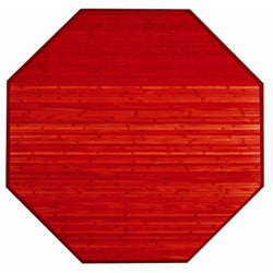 Red Bamboo Rug (3' Octagonal)