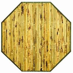Handmade Variegated Bamboo Rug (5' Octagonal)