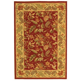 Safavieh Handmade Paradise Red Wool Rug (3'9 x 5'9)