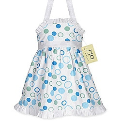 Sweet Jojo Designs Infant's Blue/ Green Halter Dress
