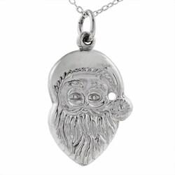 Tressa Sterling Silver Santa Claus Necklace