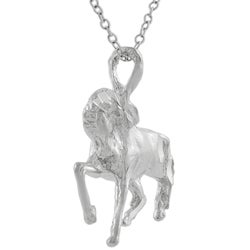 Tressa Sterling Silver Prancing Horse Necklace