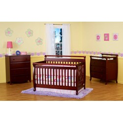 DaVinci Emily 4-in-1 Crib with Toddler Rail in Cherry