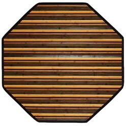 Beige Bamboo Area Rug (3' Octagonal)