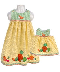 Matching Mother, Daughter Dresses and Doll Clothes Ensembles