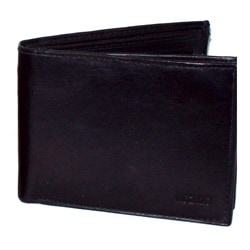 Kozmic Black Leather Bi-fold Wallet