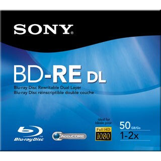 Sony 2x BD-RE Double Layer Media