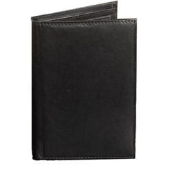 Kozmic Black Leather Passport Cover