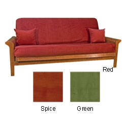 Heavy Corduroy Futon Cover with Throw Pillows