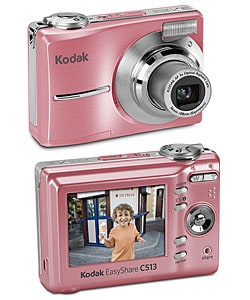 pink kodak digital camera