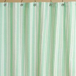 mint stripe cotton shower curtain 11215463 overstock