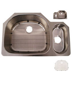 A.H. Undermount Big/ Small Basin Kitchen Sink Kit