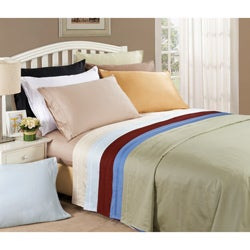 Egyptian Cotton 650 Thread Count Solid Color Pillowcase Set