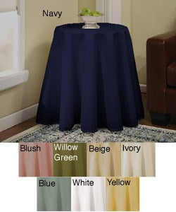 Solid 70-inch Round Tablecloth