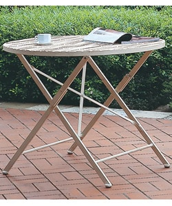 Round Iron Folding Table