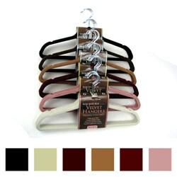 Karen Rhodes 24 Compact Velvet Clothes Hangers