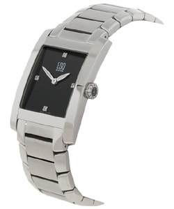 Esq by Movado Women's Venture 7100905 Silver Stainless-Steel Swiss Quartz Watch with Black Dial