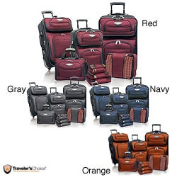Travel Select by Traveler&#39;s Choice TS6950 Amsterdam II 8-piece Deluxe Packing Luggage Set