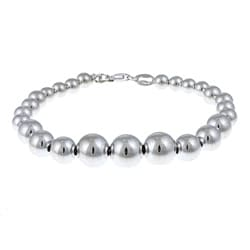 Sterling Essentials Silver 7-inch Graduated Polished Bead Bracelet