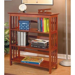 "36""H Mission Style Solid Wood Bookcase"