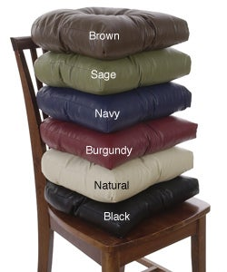 Faux Leather Metro Non-slip Chair Pads (Set of 4)
