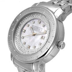 Freeze Diamond Men's Stainless Steel Watch