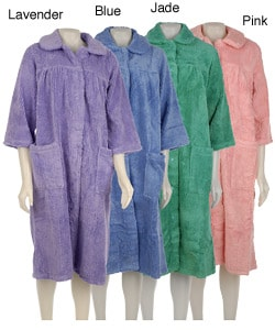 Soft Ones Women's Snap-front Chenille Bath Robe
