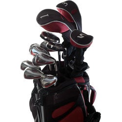 Wilson Deep Red Men's 18-piece Golf Set and Bag