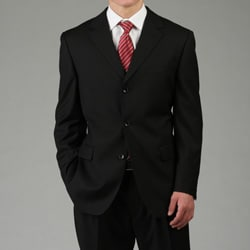 U&amp;I Men&#39;s Solid Black Suit