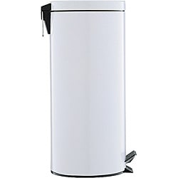 White 17.5-quart Step Open Trash Can