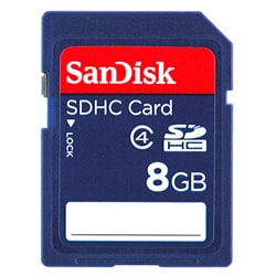 SanDisk 8GB SD/SDHC Class 4 Memory Card