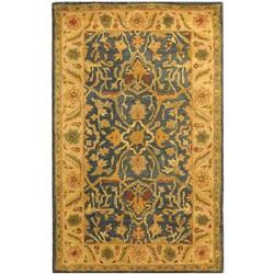 Safavieh Handmade Antiquities Mahal Blue/ Beige Wool Rug (3' x 5')