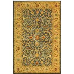 Safavieh Handmade Antiquities Mahal Blue/ Beige Wool Rug (4' x 6')