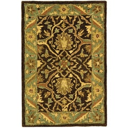 Safavieh Handmade Antiquities Mahal Brown/ Blue Wool Rug (2' x 3')