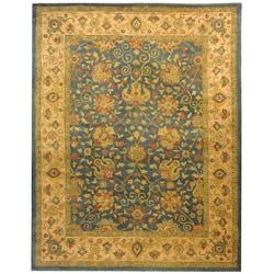 Safavieh Handmade Antiquities Mashad Blue/ Ivory Wool Rug (7'6 x 9'6)