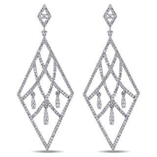 Miadora Signature Collection 18k White Gold 2ct TDW Diamond Earrings (G-H, SI)