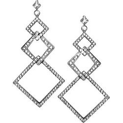 Miadora 18k White Gold 1 1/4ct TDW Diamond Earrings (G-H, SI)