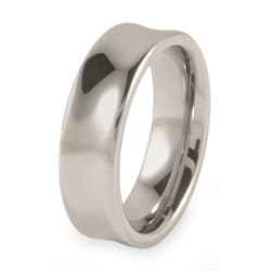 Tungsten Men's Concave Polished Band (7 mm)