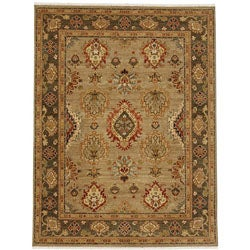 Hand-knotted Tumsur Hand-spun Wool Rug (4' x 6')