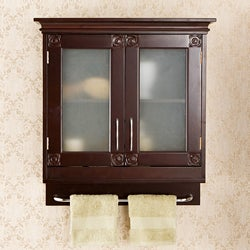 Austin Espresso Wall Cabinet  11334367  Overstock.com Shopping
