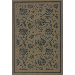 Floral Vine Indoor/ Outdoor Area Rug (7'10 x 11'2)