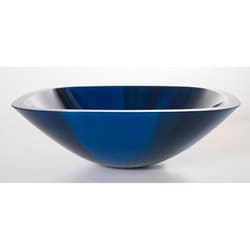 Com shopping great deals on premier copper products bathroom sinks - Denovo Blue Prism Square Glass Vessel Sink 11341734
