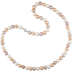 New York Pearls Multicolor FW Pearl Necklace (6.5-7 mm)