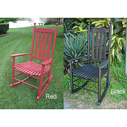 Wood Blue Grass Rocker Chair