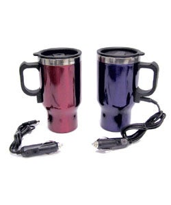 Two Heated Plug-in Travel Mugs