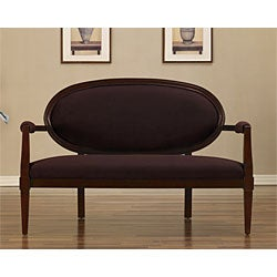 Deep Purple Oval Back Settee
