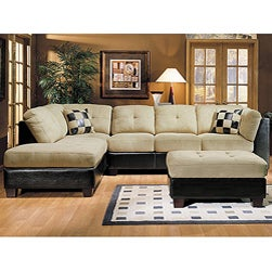 Monica Microsuede Sectional Sofa | Overstock.