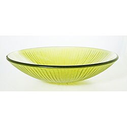 Denovo lemonade shallow glass vessel sink 11349687 shopping great deals on - Shallow vessel sink ...