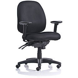 Black Ergo Fabric Mid-back Task Chair with Contoured Molded Foam Seat