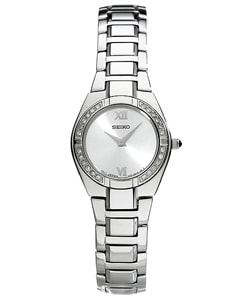 Seiko Women's Steel Diamond Dress Watch